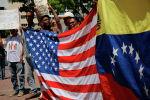 Каракасдагы өкмөткө каршы митинг. Архивдик сүрөт