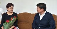 В канун празднования Дня защитника Отечества премьер-министр Мухаммедкалый Абылгазиев посетил семьи милиционеров, погибших при исполнении служебных обязанностей