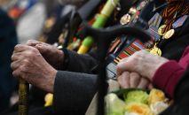 Улуу Ата мекендик согуштун ардагерлери эстелик медалдары салтанаттуу тапшыруу учурунда. Архив