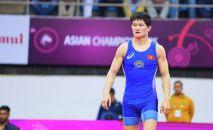 Чемпион Азии по вольной борьбе, кыргызстанец Улукбек Жолдошбеков