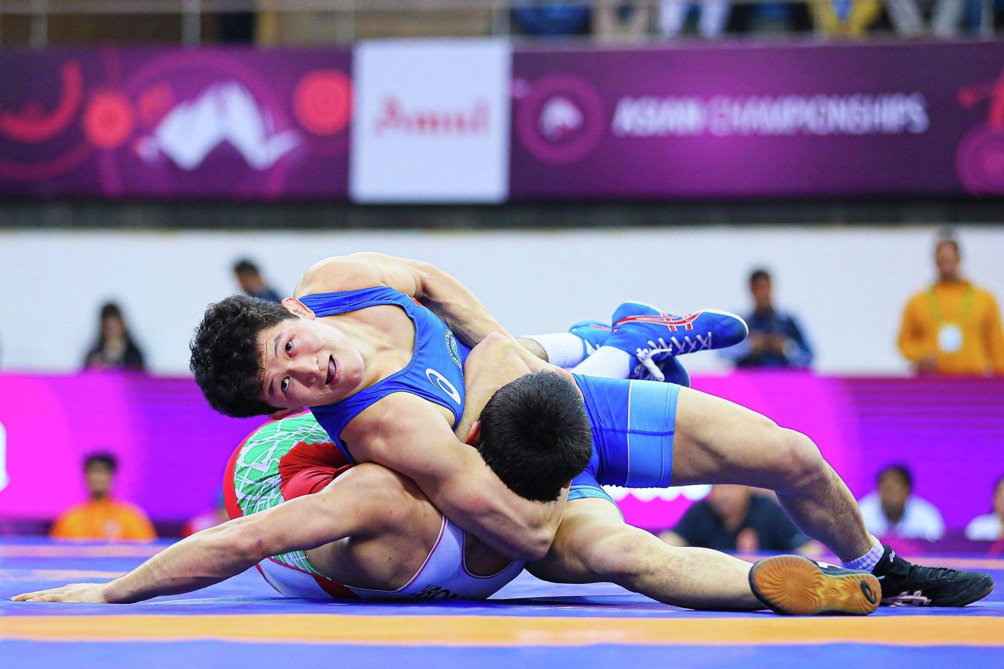 Кыргызстандык балбан Улукбек Жолдошбеков эркин күрөш боюнча Азиянын чемпиону болду, финалда Тажикстандан келген Мухамед Икромовду утуп алды.