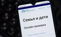 Смартфондо ачылган МККнын расмий сайтын Үй-бүлө жана бала бөлүм.