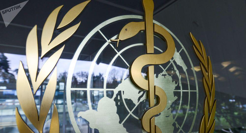 Эмблема Всемирной организации здравоохранения. Архивное фото