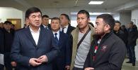 Премьер-министр Мухаммедкалый Абылгазиев Бишкек шаарындагы №2 калкты тейлөө борборунда