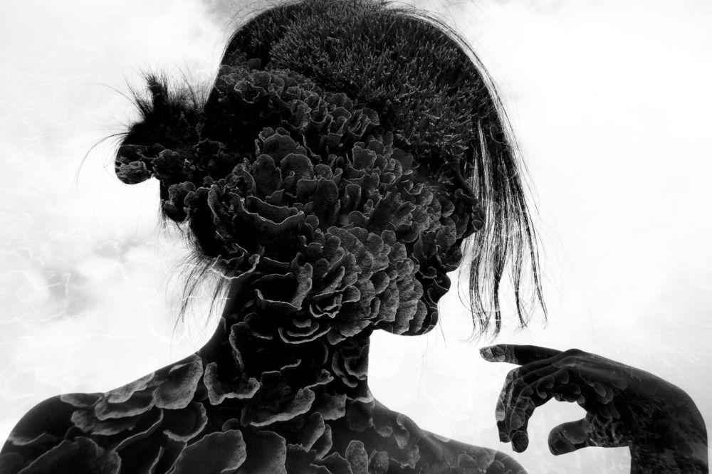 Многослойные мысли победили в категории Черно-белое фото. Автор — Мок Вай Хо (Mok Wai Hoe) из Сингапура.