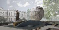 Эскиз постамента Бишкек баатыру, изготовленная скульптором Адилем Сейталиевым