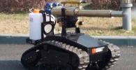 Робот созданный для борьбы с коронавирусом. Его используют чтобы обеззараживать территорию.