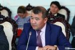 Заместитель министра экономики КР Бекболот Алиев на заседании в ЖК