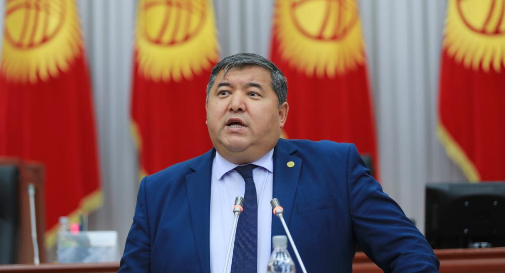 Заместитель министра сельского хозяйства КР Жаныбек Керималиев на заседании Жогорку Кенеша
