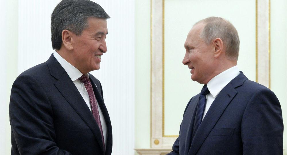 Россия лидери Владимир Путин Кыргызстандын президенти Сооронбай Жээнбеков менен Кремлден жолукту
