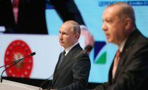Президент России Владимир Путин и глава Турции Реджеп Тайип Эрдоган. Архивное фото