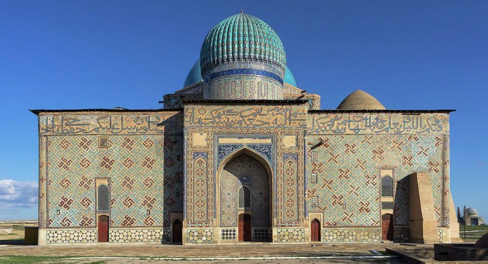 Туркестандагы Кул Кожо Акматтын күмбөзү. Архивдик сүрөт