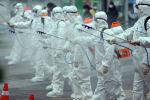 Түштүк Кореяда коронавирус боюнча дезинфекция убагында