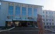 Вид на здание Кыргызской государственной медицинской академии им. И. К. Ахунбаева в Бишкек
