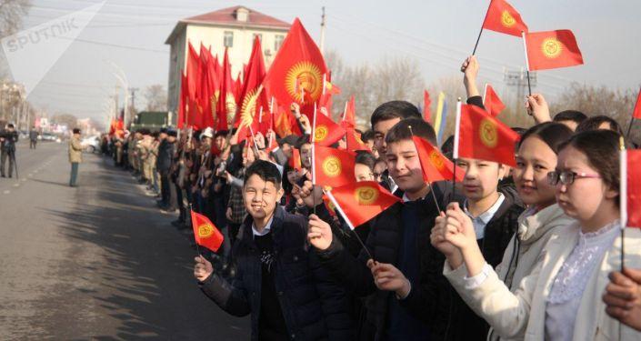 Празднование Дня государственного флага КР в Оше