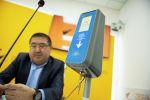 Валидатор для оплаты картой Тулпар в общественном транспорте Бишкека