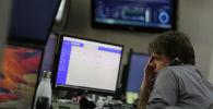 Бразилиядагы фонд биржасынын кызматкери. Архивдик сүрөт