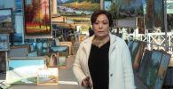 Скульптуралык массаждын чебери Мира Кулабаева. Архив