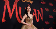 Актриса Лю Ифэй Мулан тасмасынын премьерасы учурунда. Архив