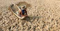 Пострадавшая от засухи провинция Кандал в Камбодже. Архивное фото
