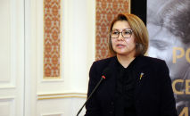 Вице-премьер-министр кызматынан бошотулган Алтынай Өмүрбекова. Архив
