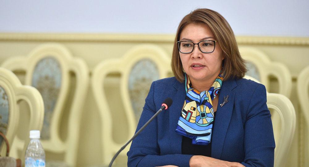 Мурдагы вице-премьер Алтынай Өмүрбекова. Архивдик сүрөт