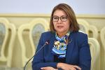 Архивное фото экс вице-премьер-министр КР Алтынай Омурбековой на заседании