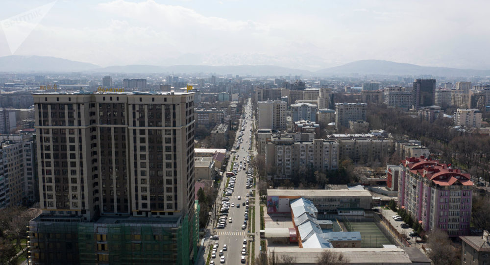 Бишкек шаарына асмандан көрүнүш. Архивдик сүрөт
