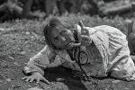 Народная артистка Киргизской ССР, Герой Кыргызской Республики Сабира Кумушалиева во время съемок худфильма Белый пароход
