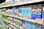 Прилавок с молочной продукцией на одном из супермаркетов Бишкеке