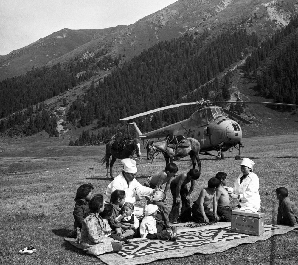 Санитарная авиация посетила отдаленный регион. 1972 год