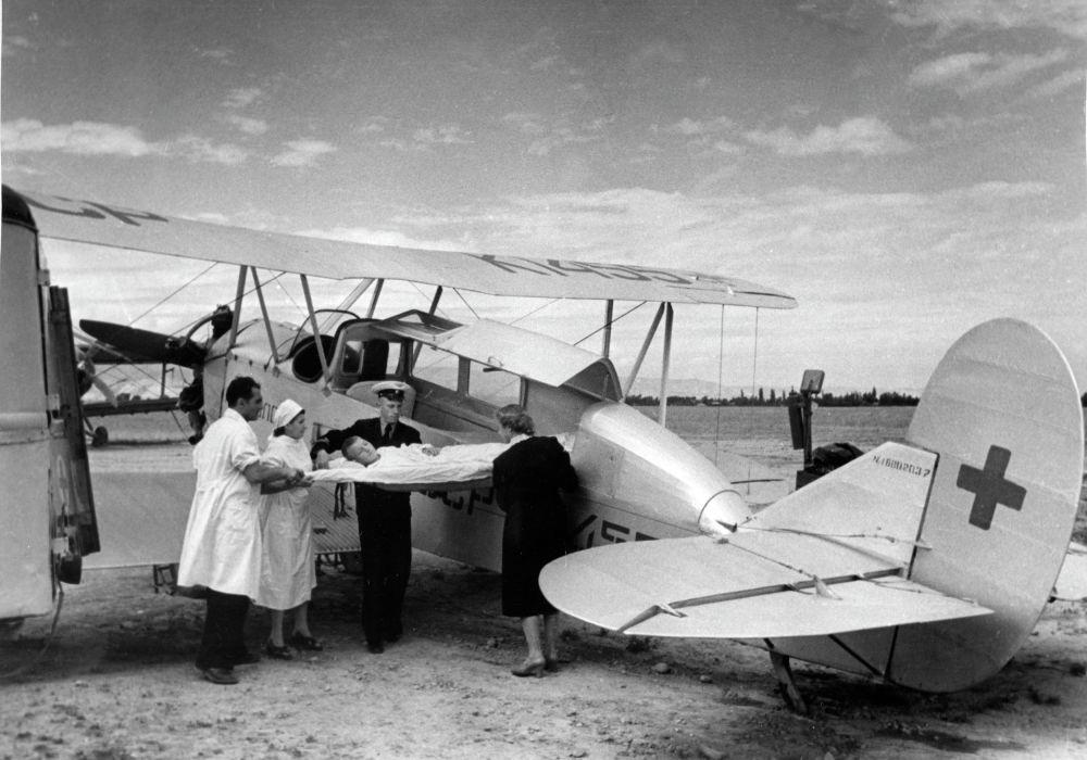 Санитарная авиация в действии