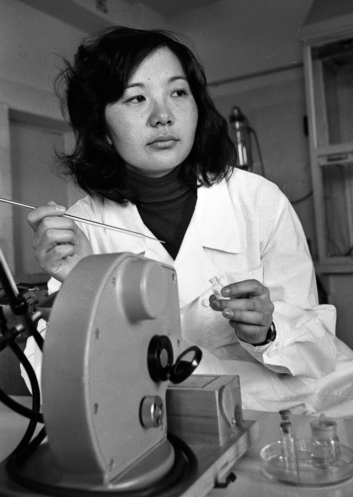 Сотрудница Института гигиены. 1978 год