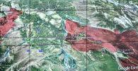 Карта страны на мониторе на первом заседании Республиканского оперативного штаба.