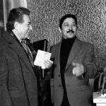 Кыргызский драматург, писатель, сценарист и режиссер Мар Байджиев и писатель Чингиз Айтматов