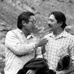 Кыргызский драматург, писатель, сценарист и режиссер Мар Байджиев и кинорежиссер Толомуш Океев