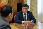Президент Сооронбай Жээнбеков ички иштер министри Кашкар Жунушалиевди кабыл алды