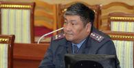 Заместитель главы МВД КР Алмазбек Орозалиев в заседании ЖК