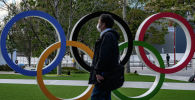 Жайкы Олимпиада оюндарынын белгиси. Архивдик сүрөт