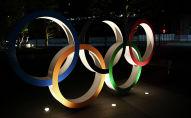 Олимпийские кольца в Токио 24 марта 2020 года