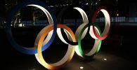 Олимпийские кольца в Токио. Архивное фото