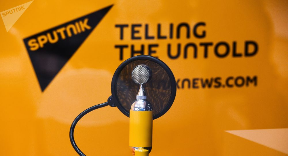 Sputnik радиостунун логотиби. Архив