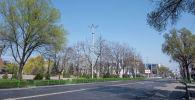 Пустая улица в Бишкеке. Архивное фото