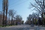 Пустая улица в Бишкеке, во время режима чрезвычайного положения из-за ситуации с коронавирусом