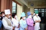 Мэр Оша Таалайбек Сарыбашов посетил Ошскую городскую клиническую больницу в микрорайоне Ак-Тилек