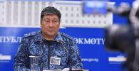 Бишкек шаарынын коменданты, ИИМдин орун басары Алмазбек Орозалиев. Архив