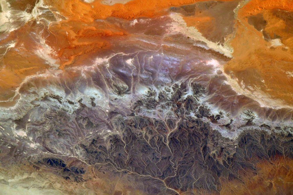 Вид на Алжир с борта Международной космической станции