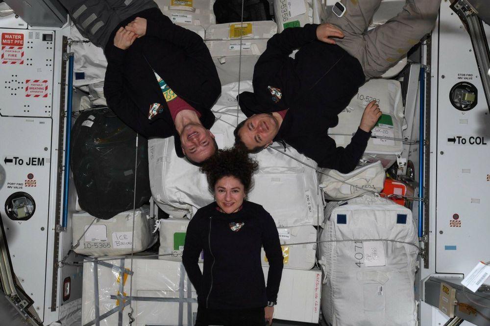 Экипаж МКС-62: Эндрю Морган, Олег Скрипочка и Джессика Меир