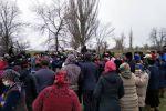 Митинг против открытия обсервационного центра в Тюпском районе Иссык-Кульской области