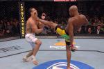 Абсолютный бойцовский чемпионат (UFC) представил фанатам смешанных единоборств подборку боев, которые завершались прямыми ударами ногой в голову.